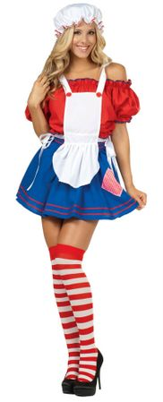 Sexy Adult Miss Rag Doll Costume