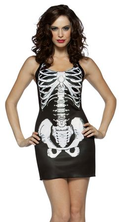 Women's Sexy Skeleton Costume, Size S/M