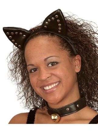 Sexy Studded Cat Ears Headband and Collar