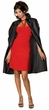 Short Red Taffeta Cape