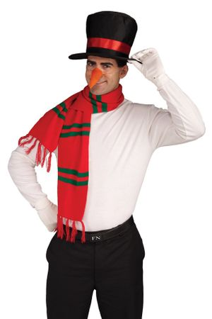Snowman Hat, Scarf and Nose Costume Kit