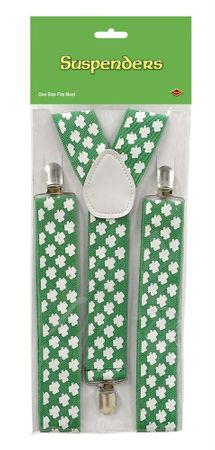 St. Patrick's Day Shamrock Suspenders