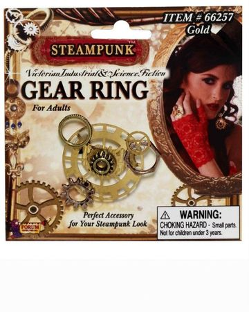 Steampunk Gold Gear Ring