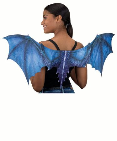 Sublimation Printed Blue Dragon Wings
