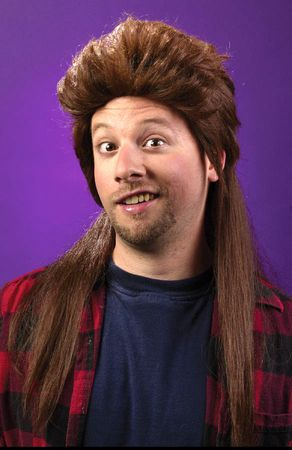 Brown Super Mullet Wig