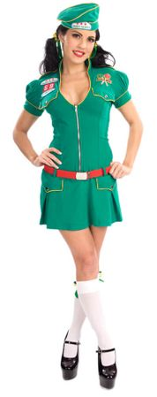 Sweet Camper Sexy Girl Scout Costume, Size Medium