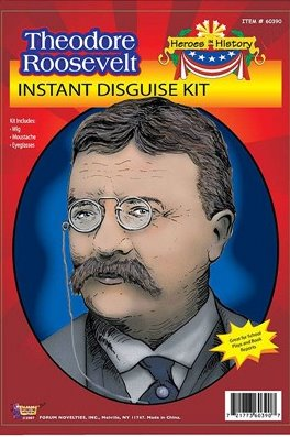 Theodore Roosevelt Wig and Glasses Kit