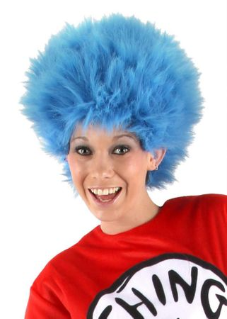 Thing 1 and 2 Blue Furry Wig