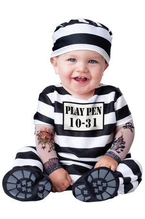 Timeout Infant/Toddler Prisoner Costume
