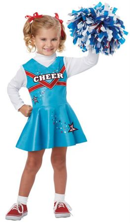 Toddler/Child Blue Classic Cheerleader Costume