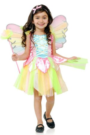 Toddler/Child Deluxe Rainbow Fairy Princess Costume