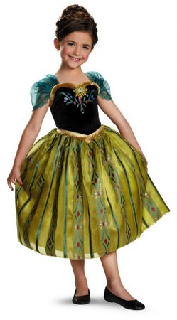 Toddler/Child Disney Frozen Anna Coronation Gown Costume