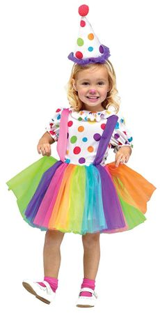 Toddler Girl's Big Top Fun Clown Costume