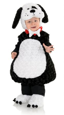 Toddler/Child Plush Black and White Puppy Costume