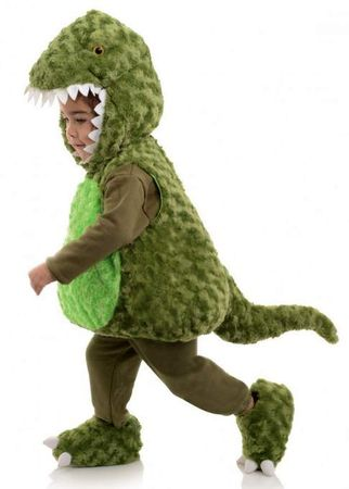 Toddler/Child Plush Green T-Rex Belly Babies Costume
