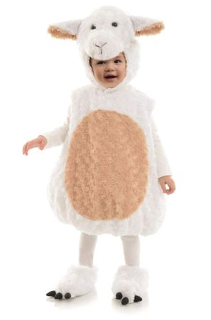 Toddler/Child Plush White Lamb Costume