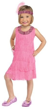 Toddler Girls' 1920's Pink Flapper Costume