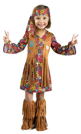 Toddler Peace and Love Hippie Costume