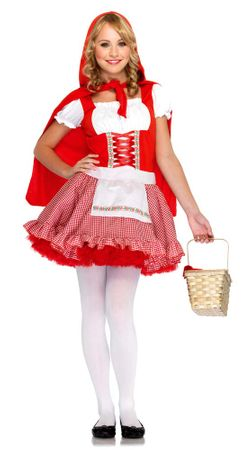 Tween Lil' Miss Red Costume