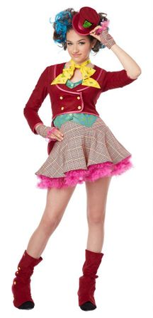 Tween Mad as a Hatter Girls' Costume
