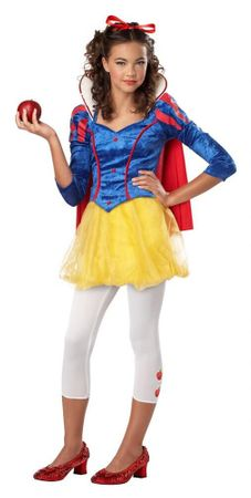 Tween Sassy Snow White Girls' Costume