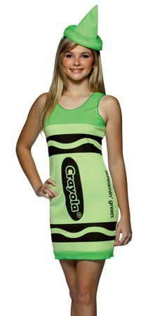 Tween Screamin' Green Crayola Crayon Costume