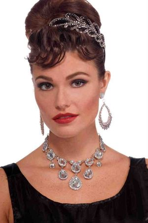 Vintage Hollywood Faux Diamond Necklace