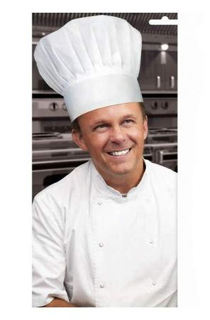 White Chef Costume Hat