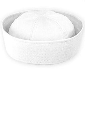 White Cotton Sailor Hat - Adult or Child
