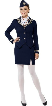 Women's Airways Attendant Costume