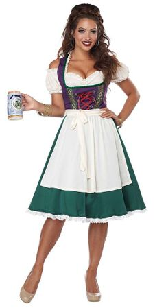 Women's Bavarian Beer Maid Costume