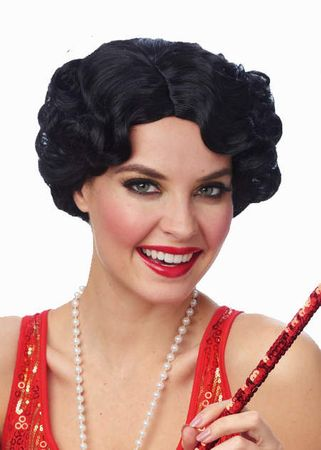 Women's Black Daisy Flapper Wig