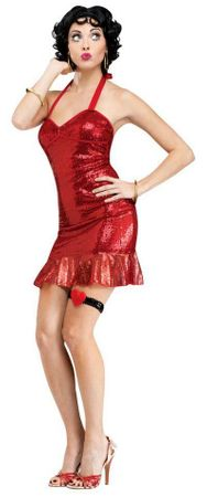 Women's Classic Betty Boop Costume, Size Small