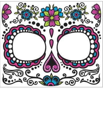 Women's Day of The Dead Face Tattoo