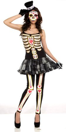 Women's Day of the Dead Skeleton Costume