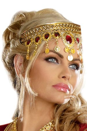 Women's Dripping Rubies Goddess Headpiece