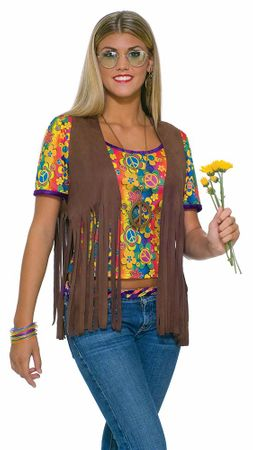 Women's Hippie Vest 60's Costume