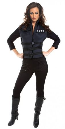 Women's Lady SWAT Sexy Cop Costume
