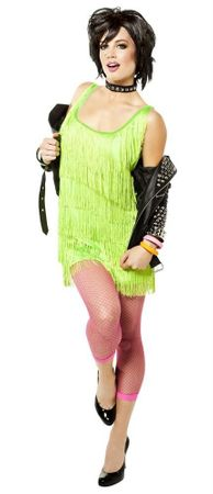 Women's Lime Green Fringe Party Dress