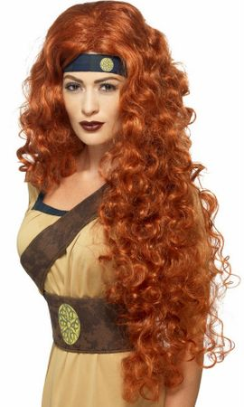 Women's Medieval Warrior Queen Auburn Wig