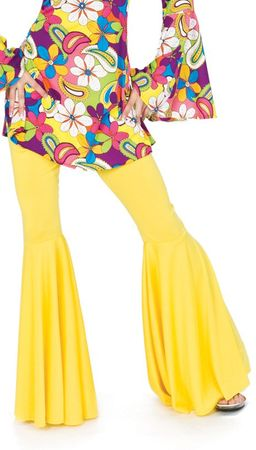 Women's Mellow Yellow Hippie Bell Bottom Pants