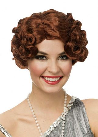 Women's Natural Red Daisy Flapper Wig