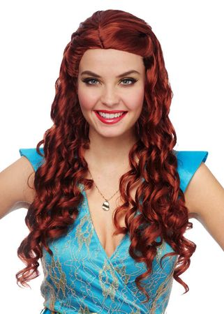 Women's Natural Red Medieval Princess Wig