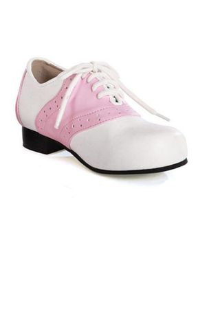 Women's Pink and White 50's Saddle Shoes