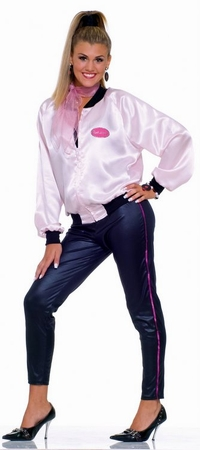 Women's Pink Lady Jacket and Pants Costume, Size M/L