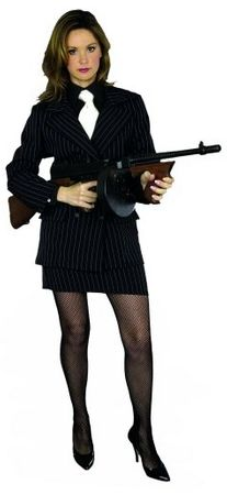 Women's Pinstriped Gangster Suit Costume