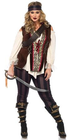 Women's Plus Size Captain Blackheart Costume