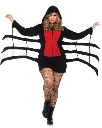 Women's Plus Size Cozy Black Widow Costume