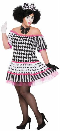 Women's Plus Size Harlequin Clown Costume