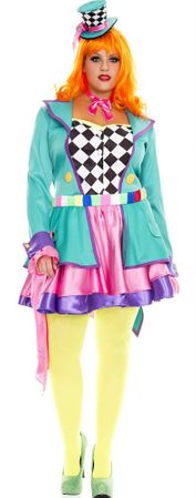 Women's Plus Size Mad Hatter Hottie Costume
